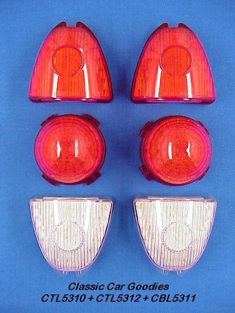 1953 Chevy LED Tail Light Kit. Includes Back Up Lights!