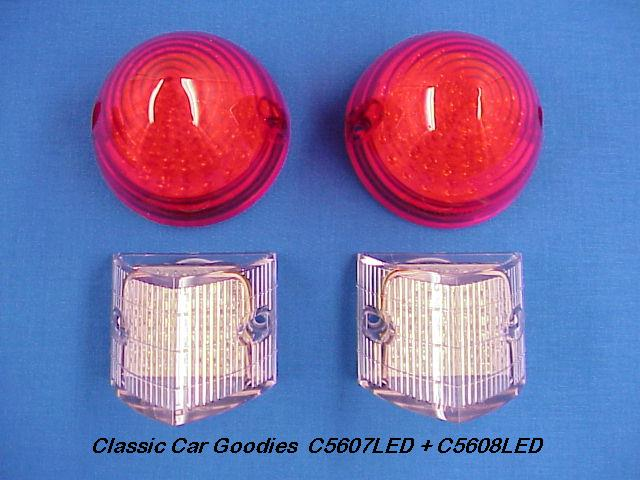 1956 Chevy LED Tail Light Kit. Includes Back Up Lights!