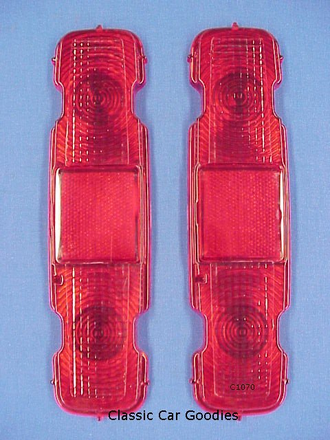 1970-1972 Chevy Monte Carlo Tail Light Lens (2) 1971
