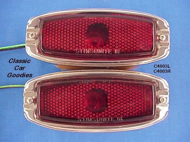 1941-1948 Chevy Tail Lights (2) 1942 1946 1947 Glass