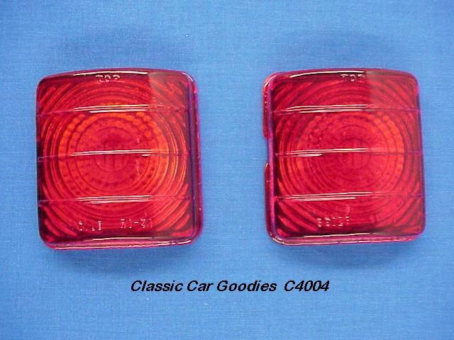 1951-1952 Chevy Glass Tail Light Lens (2). Brand New Pair!