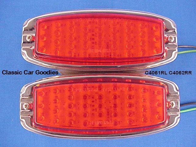 1941-1948 Chevy 39 Led Tail Lights (2) 1942 1946 1947