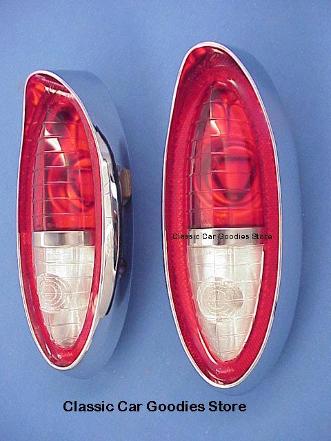1954 Chevy Tail Lights Assemblies (2) New! Belair 210 150 SW (Also Fits 1953!)