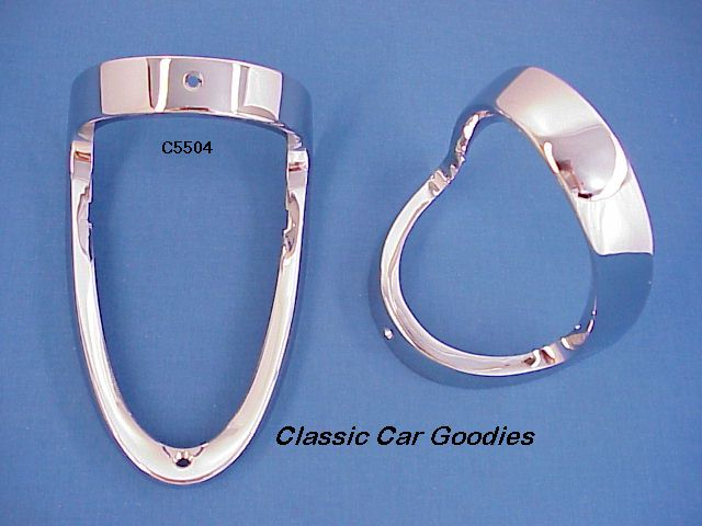 1955 Chevy Tail Light Bezels (2) Show Quality Brand New