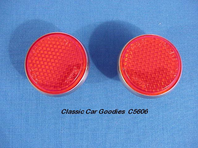 1951-1952 Chevy Tail Light Reflectors. Brand New Pair!