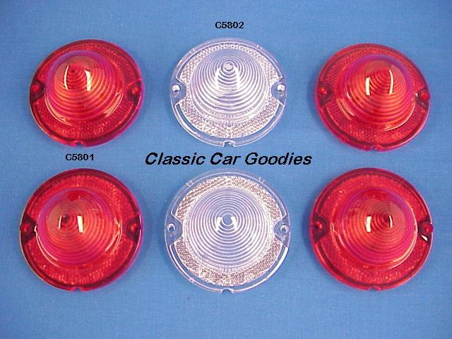 1958 Chevy Tail & Back Up Light Lens Set (6) for Impala