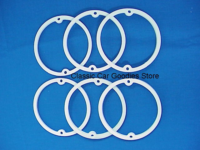 1960-1961 Chevy Car Tail or Back-Up Light Lens Gaskets (6) Brand New!
