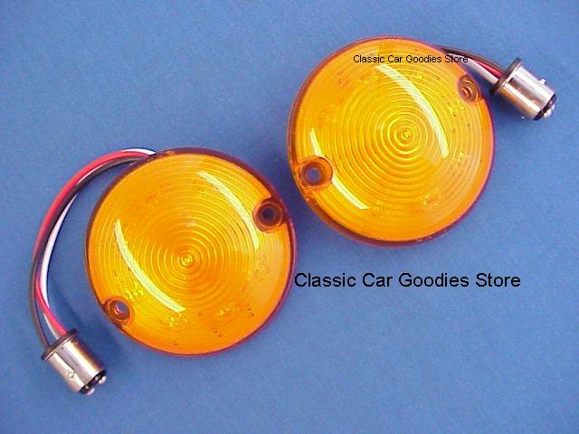 1957 Chevy Amber LED Park Lights. (2) A Custom Look! New!