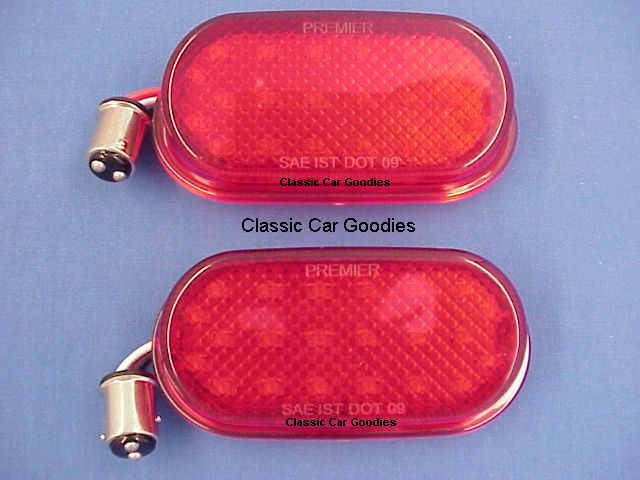 1940 Chevy 22 LED Tail Light Inserts (2) 12V Street Rod