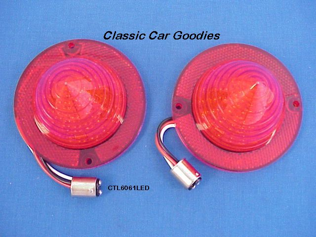 1960-1961 Chevy Belair Impala LED Tail Lights + FREE Flasher!