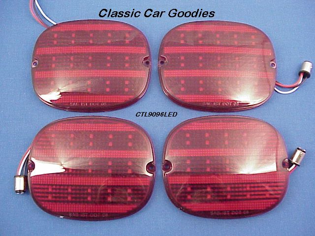 1990-1993 Corvette Led Tail Lights (4) 1991 1992 Very Kool!