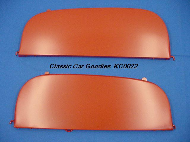 1949-1950 Chevy Deluxe Fender Skirts. New Metal Pair!