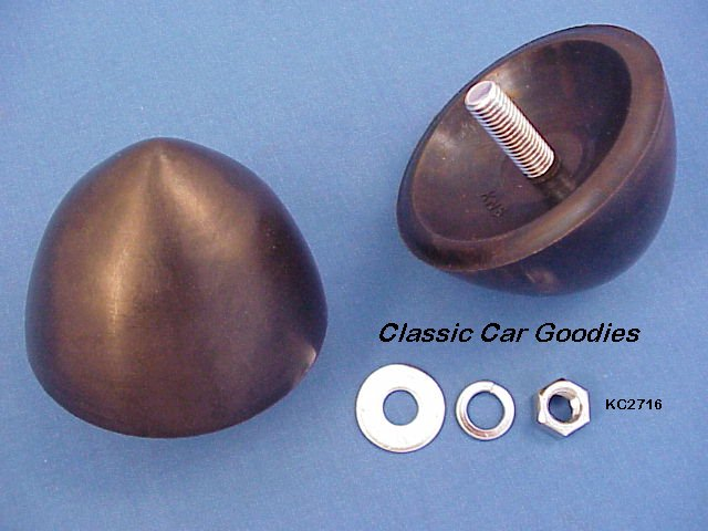1959 Chevy Front Bumper Bullets (2) Rubber New
