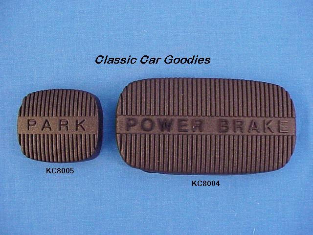1961 1964 Chevy Emergency & Brake Pedal Pads 1962 1963