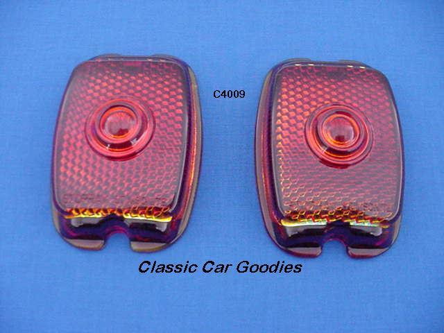 1947-1949 Chevy Truck Tail Light Lens (2) Glass 1948