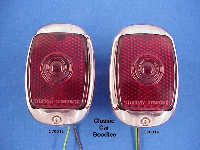 1947-1950 Chevy Truck Black Tail Lights 1948 1949
