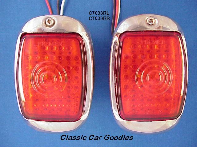 1947-1950 Chevy Truck LED SS Tail Lights (2) 1948 1949