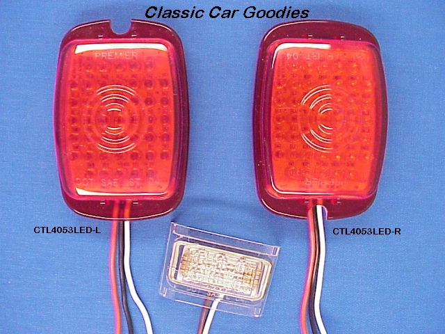 1947-1948 Chevy Truck LED Tail Light Inserts Inc Led Lp
