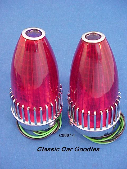 1959 Cadillac Tail lights (2) Blue Dot Custom Lead Sled