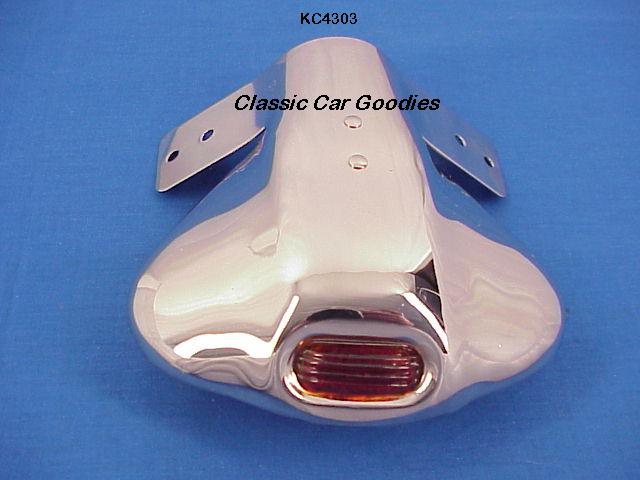 Exhaust Deflector Glass Red Eye Stainless Street Rod