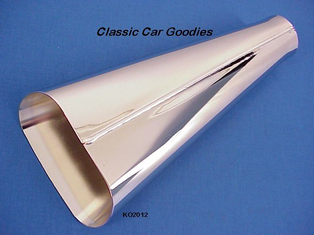 Exhaust Tip Chrome Tapered Angle 2 Tail Pipe Street Rod Hot