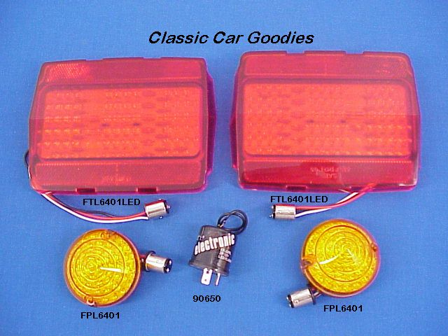 1964-1966 Ford Mustang Led Lights Kit. Park Tail Flasher 1965