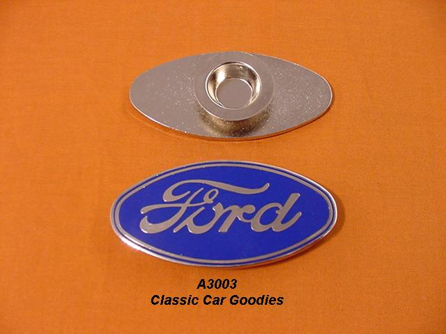 1928-1930 Ford Radiator Shell Emblem 1929 New Blue Oval