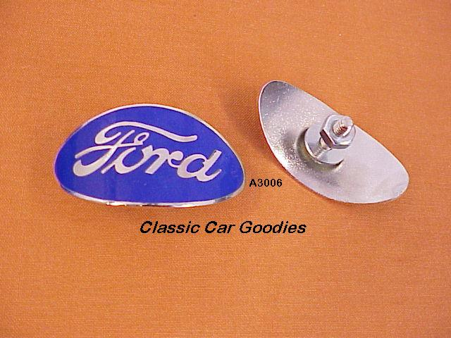 1932-1935 Ford Truck Radiator Shell Emblem. Blue Oval. New! 1933 1934
