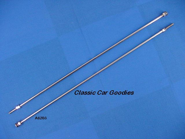 1932-1936 Ford Rad Support Rods (2) Stainless 1933 1934 1935
