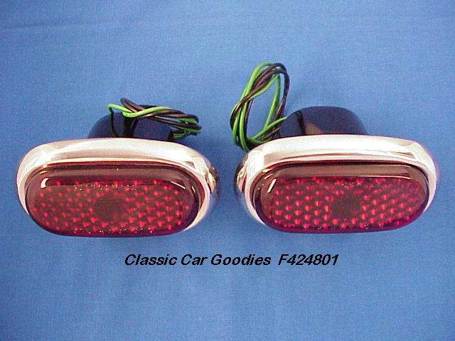 1942-1948 Ford Tail Lights (2) New 1946 1947 Street Rod
