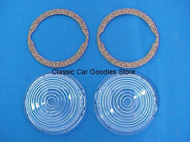 1942-1947 Ford Truck Park Light Lens & Gasket (2e) Brand New! 1945 1946