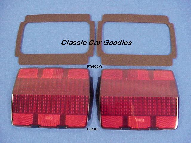 1964-1966 Ford Mustang Tail Light Lens & Gaskets (2) 1965