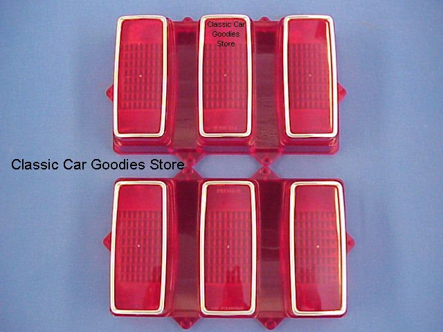 1969 Ford Mustang Tail Lights Lens (2) Brand New!