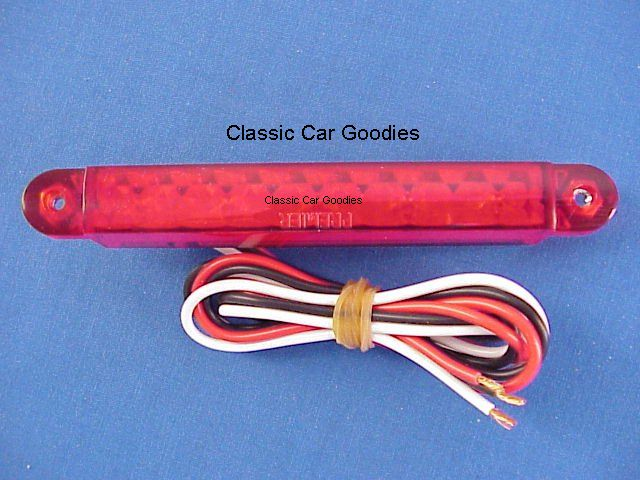 1932-1934 Ford Spreader Bar Replacement Red Led (2) 1933 12V New!