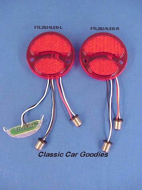 1928-1931 Ford Led Tail Light Insert (2) 12V 1929 1930