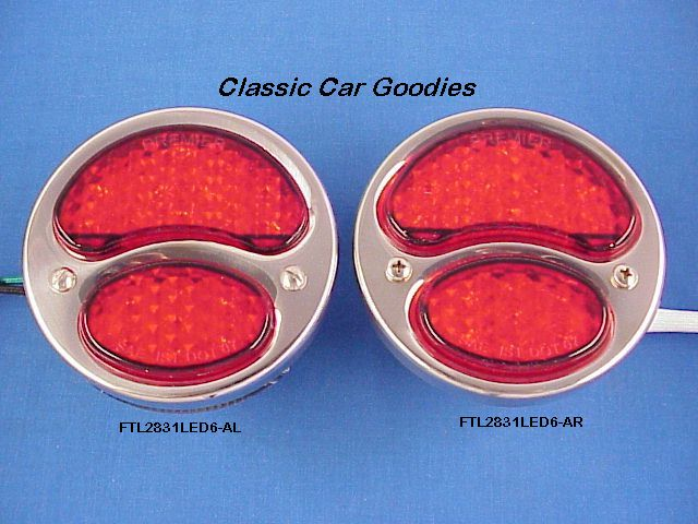1928-1931 Ford LED Tail Lights SS 6VOLT! 1929 1930
