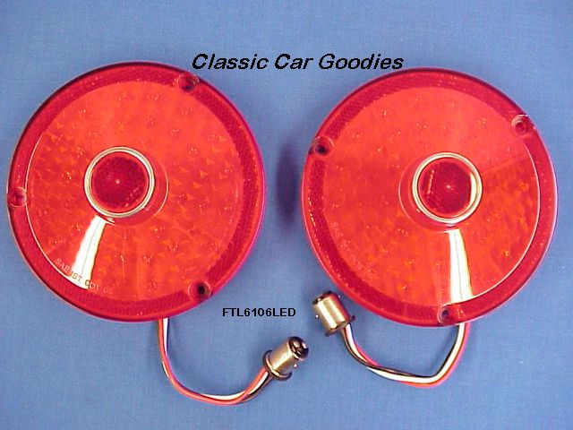 1961 Ford Thunderbird 41 Led Tail Light Inserts (2) New