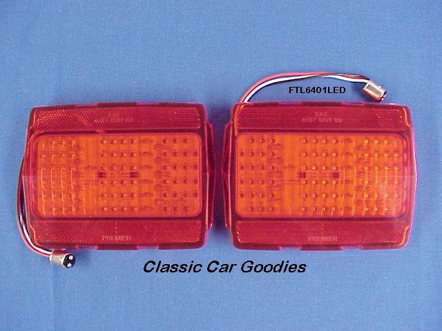 1964-1966 Ford Mustang 68 Led Tail Lights (2) 1965 New!