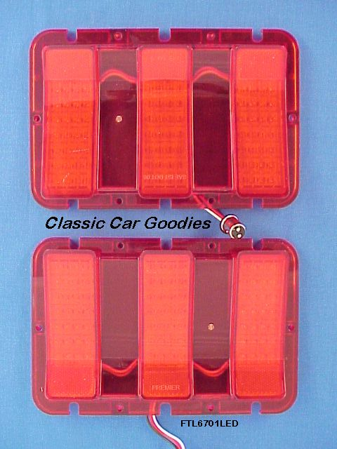 1967-1968 Ford Mustang 84 Led Tail Light Inserts (2)