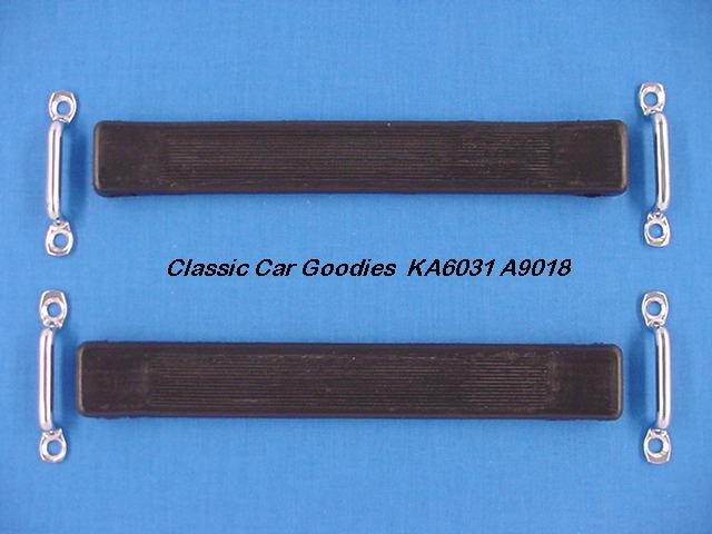1928-1931 Ford Door Stop Kit 8 Chrome/Rubber 1929 1930