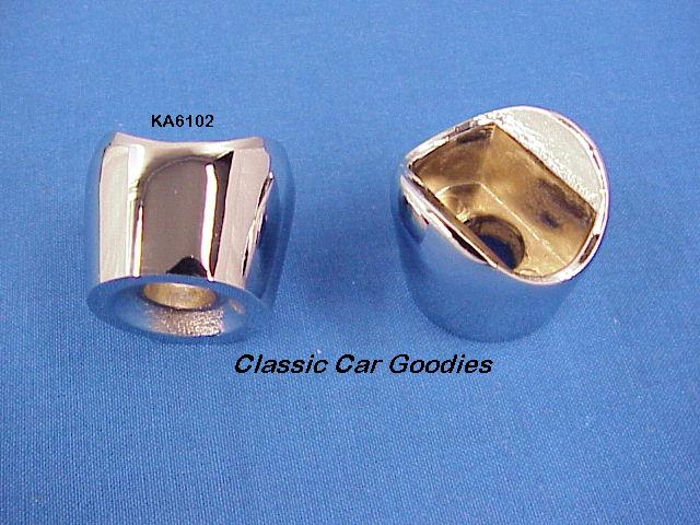 1928-1931 Ford Windshield Frame Cones (2) Chrome 1929 1930