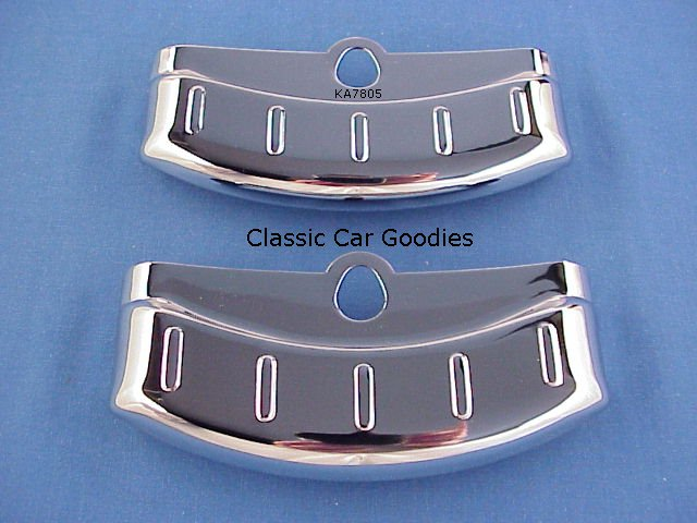 1956 Ford Dual Exhaust Deflectors (2) Fairlane New!