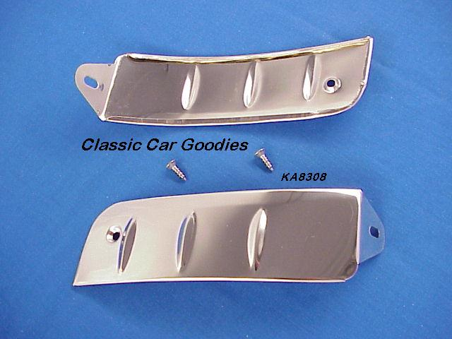 1955-1956 Ford Rear Fender Stone Guards Polished SS