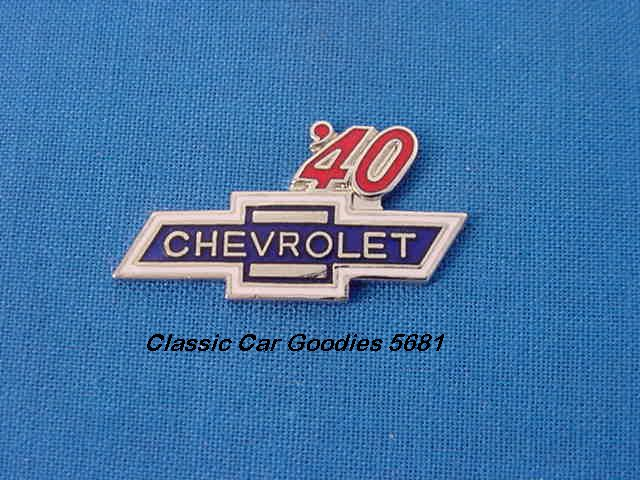 1940 Chevy Bowtie Hat Pin