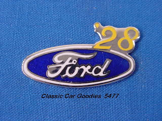 1928 Ford Blue Oval Hat Pin