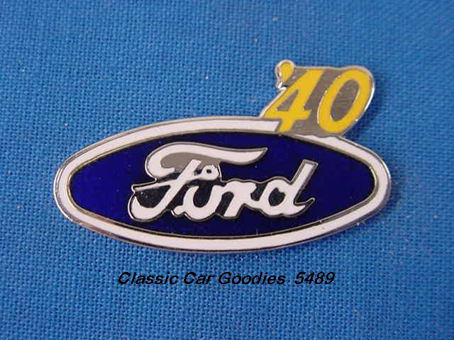 1940 Ford Blue Oval Hat Pin