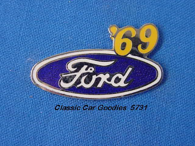 1969 Ford Blue Oval Hat Pin