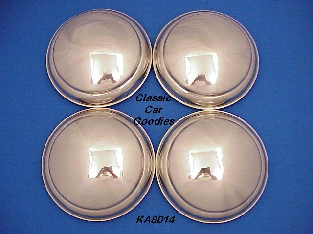1940-1948 Ford Car Hub Caps (4) Stainles Steel 1942 1946 1948