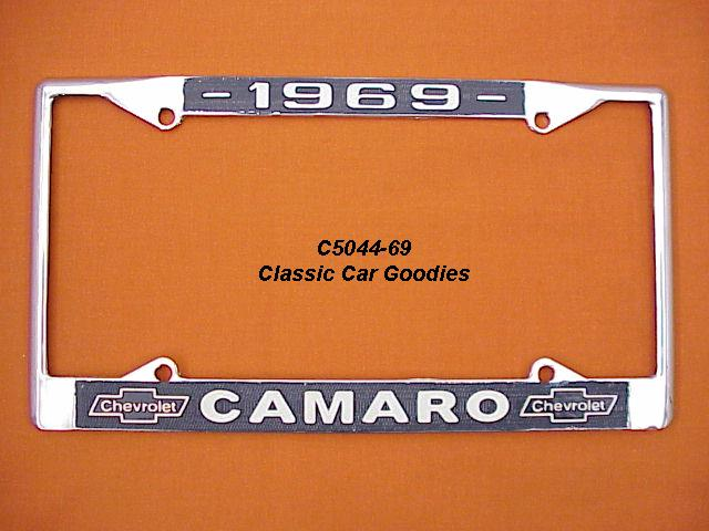 1969 Chevy Camaro License Plate Frame Chrome. Metal.