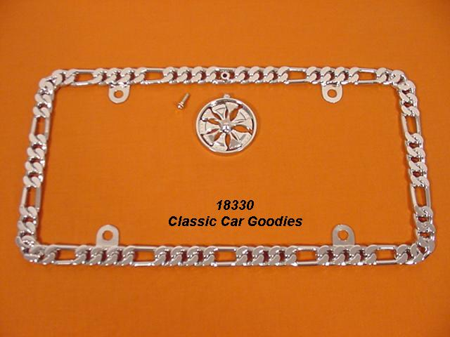 Bracelet Chain License Plate Frame Show Chrome/Spinner